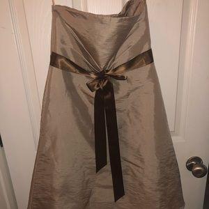 Taupe flower girl dress